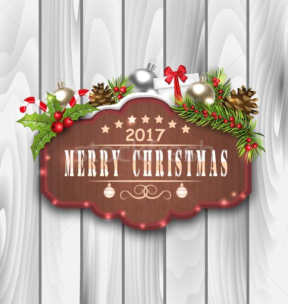 Natal decoração ilustração Foto stock © smeagorl