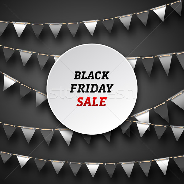 Black Friday Poster with Bunting Pennants, Advertising Design Stock photo © smeagorl