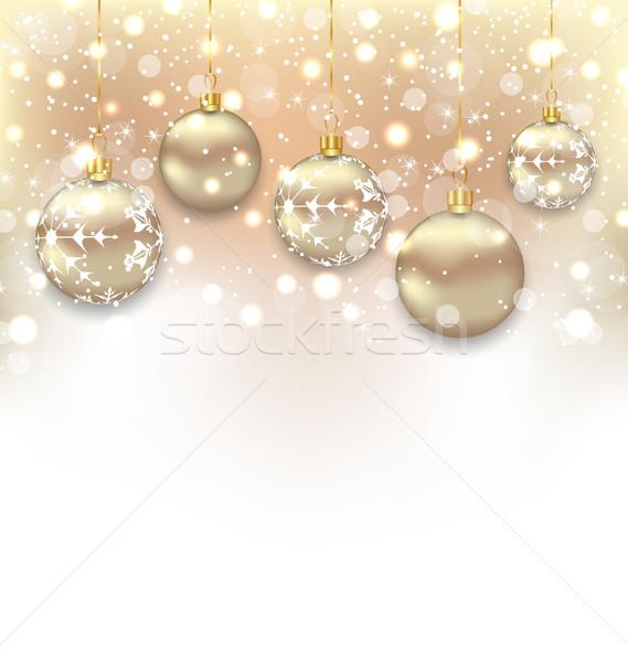 Christmas kopia przestrzeń yo ilustracja tekst Zdjęcia stock © smeagorl