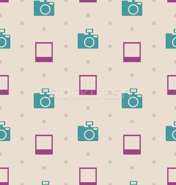 Retro senza soluzione di continuità texture telecamere vintage illustrazione Foto d'archivio © smeagorl