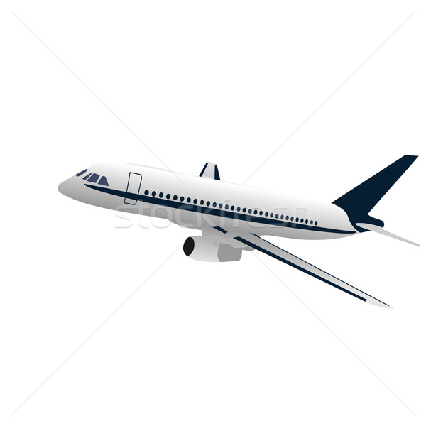 Realisic illustration airplane Stock photo © smeagorl