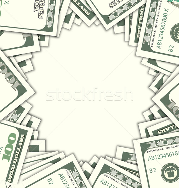 Round Frame with Dollars on White Background Stock photo © smeagorl