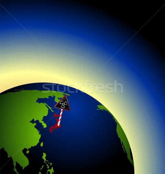 örnek global radyoaktif zarar nükleer Stok fotoğraf © smeagorl