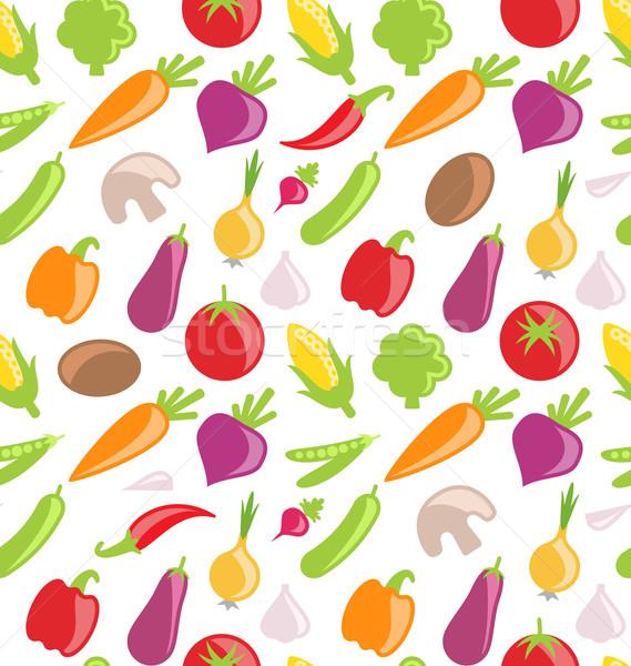 Seamless Pattern Of Vegetables Vector Illustration C Oleg Tirunov