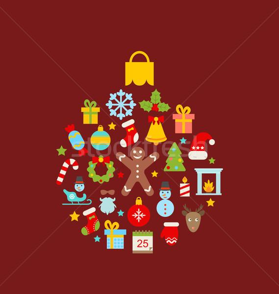 Foto d'archivio: Abstract · Natale · palla · illustrazione · colorato · oggetti