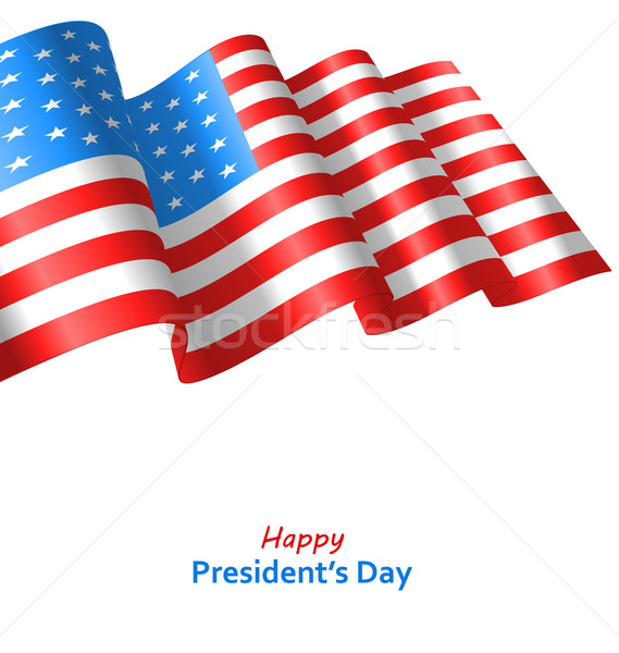 Patriotic Background with Flag USA Waving Wind for Happy Stock photo © smeagorl