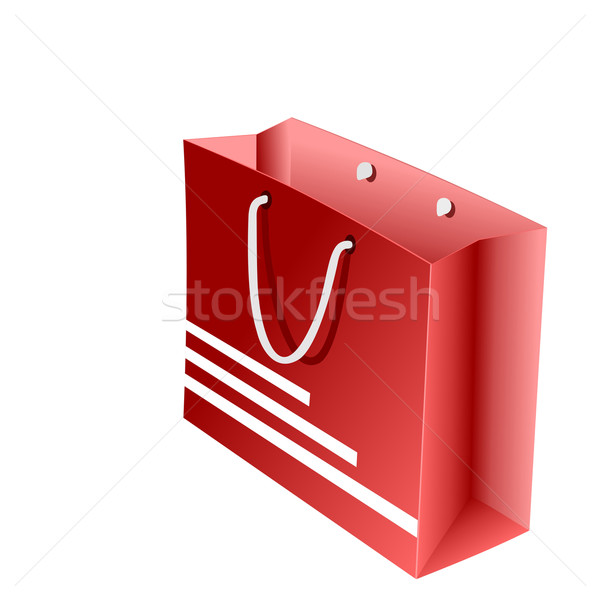 Realistic illustration of red packet for shopping Stock photo © smeagorl