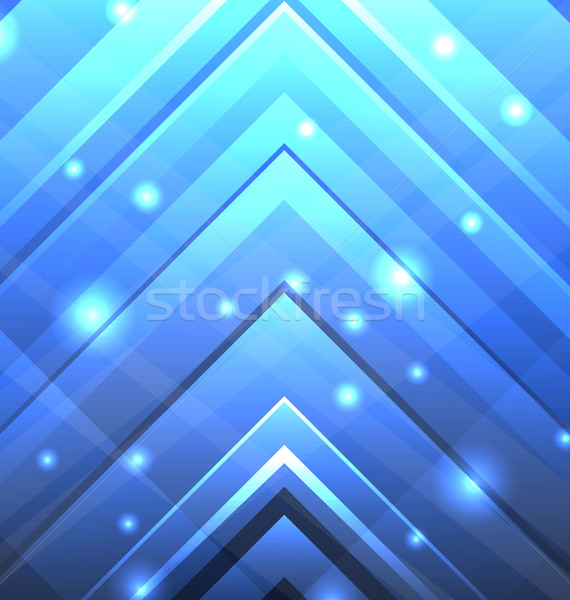 Abstract Techno Background with Transparent Arrows Stock photo © smeagorl