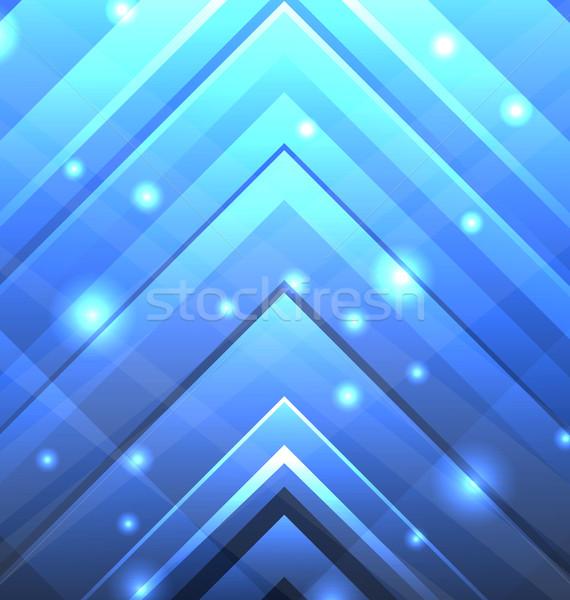 Abstrato techno transparente ilustração luz Foto stock © smeagorl