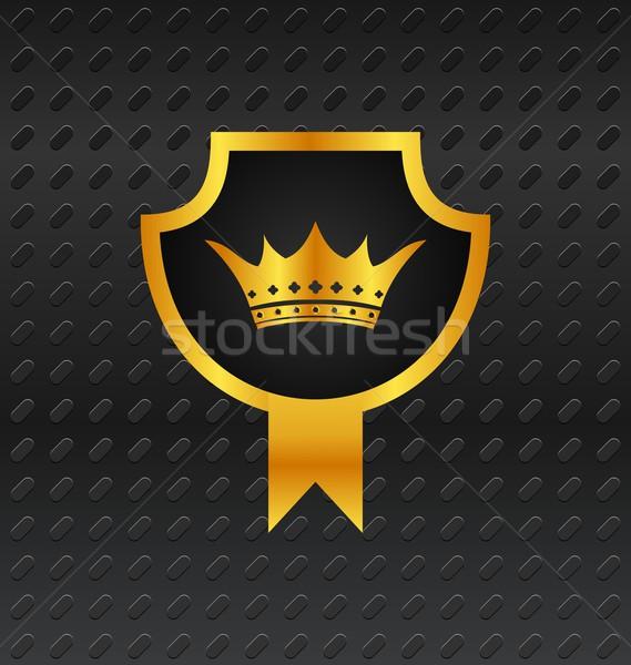 heraldic shield on titanium background Stock photo © smeagorl