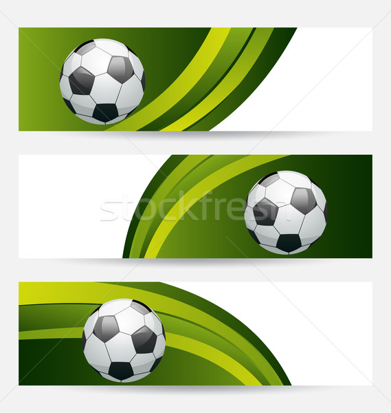 Set football cards with place for your text Stock photo © smeagorl