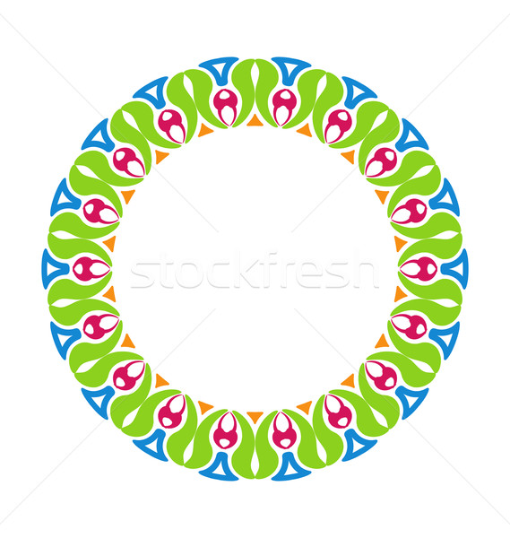 Abstract Ornamental Colorful Round Framework Stock photo © smeagorl