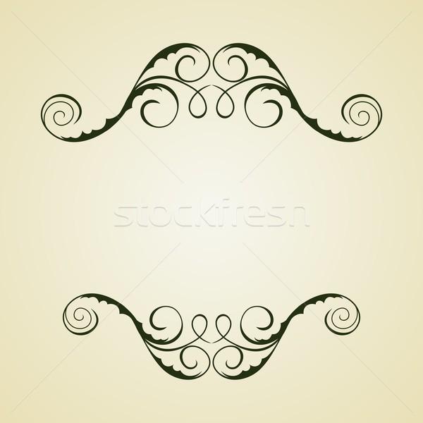 Vintage шаблон иллюстрация вектора цветок бумаги Сток-фото © smeagorl