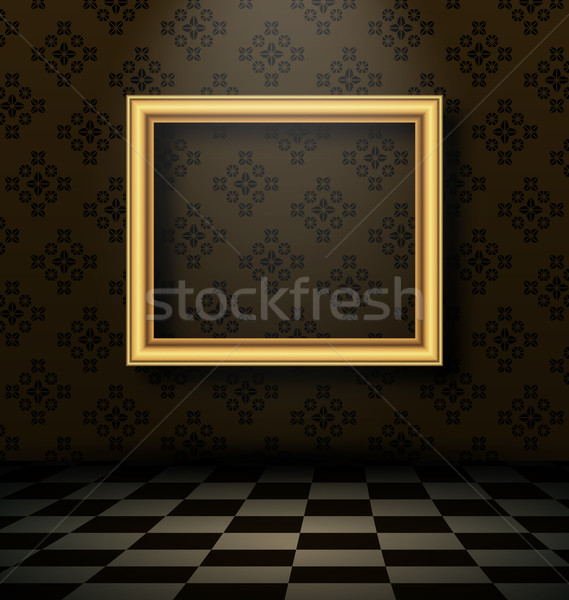 Picture frame in baroque interior style Stock photo © smeagorl