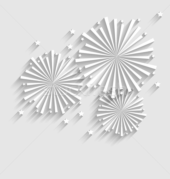 Firework for Holiday Celebration Events, Flat Style Long Shadow Stock photo © smeagorl