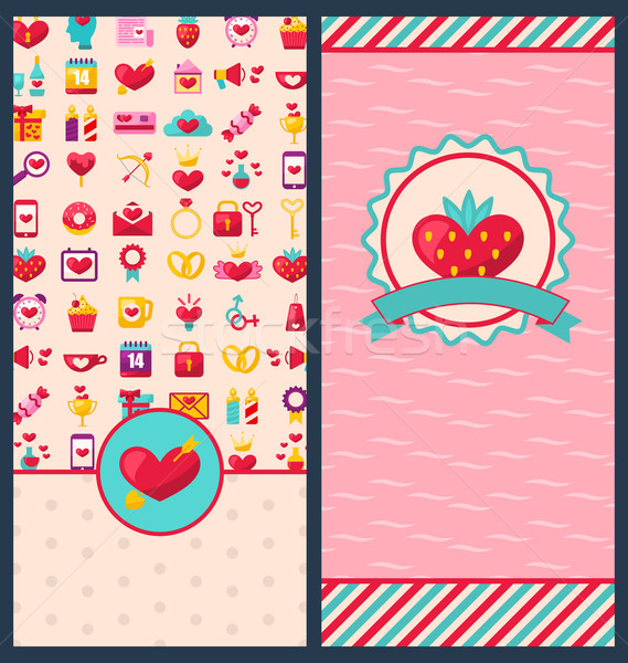 Collection Beautiful Banners for Happy Valentine's Day Stock photo © smeagorl