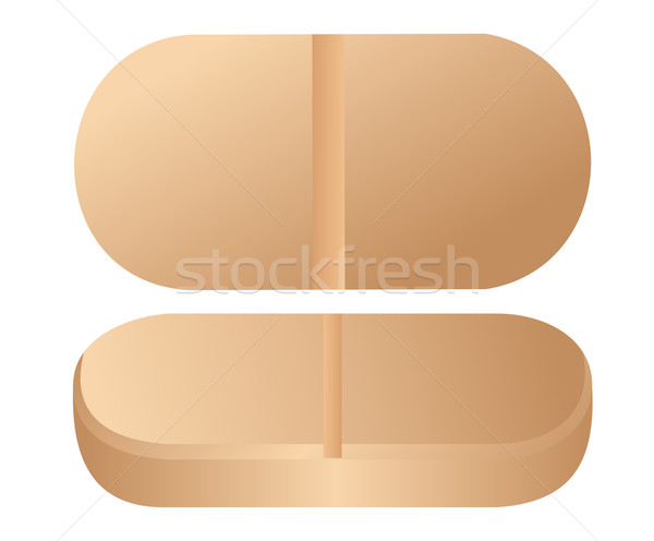 Realistic illustration of pill is isolated on white background Stock photo © smeagorl