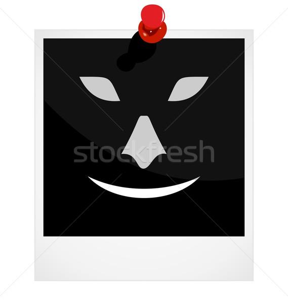 Realistic illustration photoframe with symbol Stock photo © smeagorl