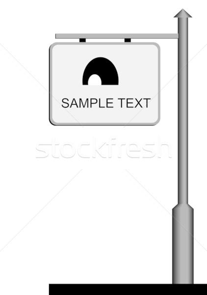 Utca hirdetőtábla háttér keret iskolatábla poszter Stock fotó © smeagorl