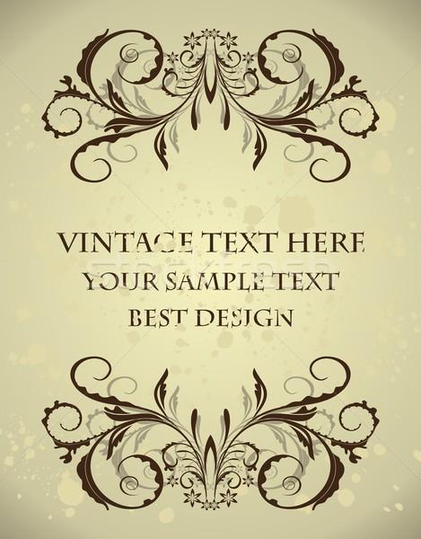 Vintage floral frame Stock photo © smeagorl