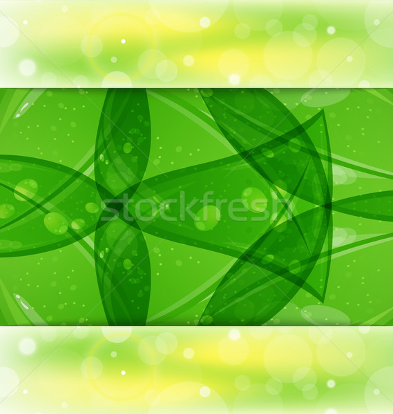 Stock photo: Abstract summer background with leaf texture