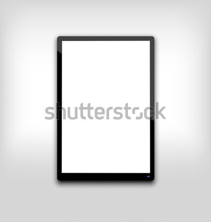 иллюстрация черный компьютер белый экране Сток-фото © smeagorl
