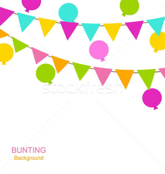 Buntings Flags Pennants and Balloons Stock photo © smeagorl