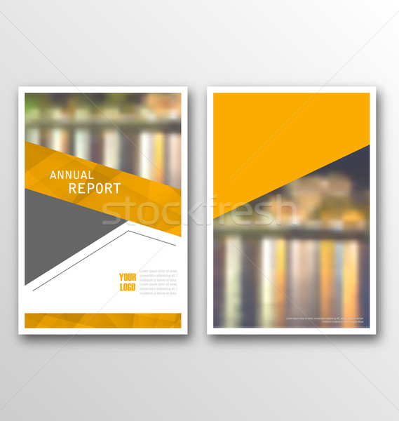 Brochure Template Layout, Cover Design Annual Report, Design of Magazine or Newspaper Stock photo © smeagorl