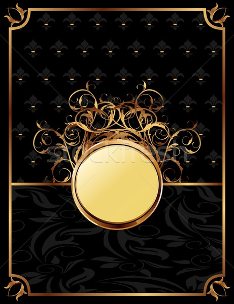gold invitation frame or packing for elegant design Stock photo © smeagorl