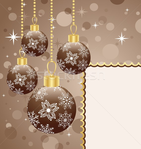 Christmas balls with space for text Stock photo © smeagorl
