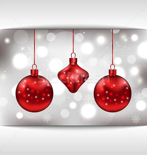 Foto stock: Vacaciones · tarjeta · Navidad · ilustración