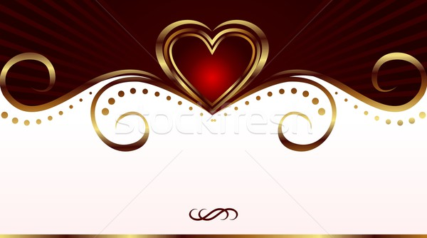 romantic card for valentine's day Stock photo © smeagorl