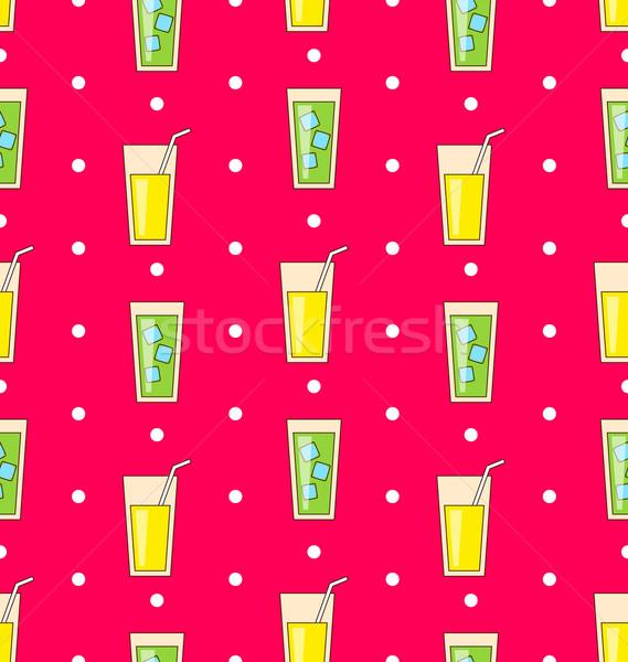 Colorido ilustração ícones álcool bebidas Foto stock © smeagorl