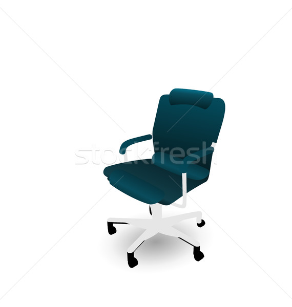 Office Chair Isolated on White Background Stock photo © smeagorl