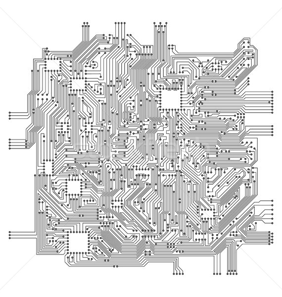 Circuit Board. Electronic Computer Hardware Technology Stock photo © smeagorl