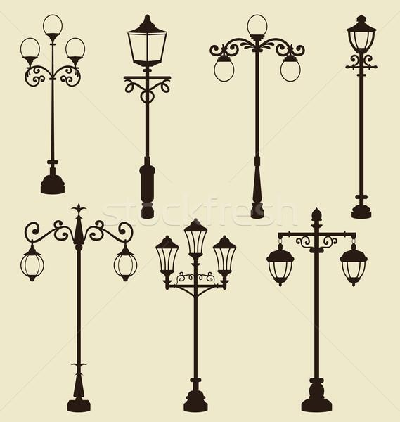 Szett klasszikus különböző díszítő illusztráció terv Stock fotó © smeagorl