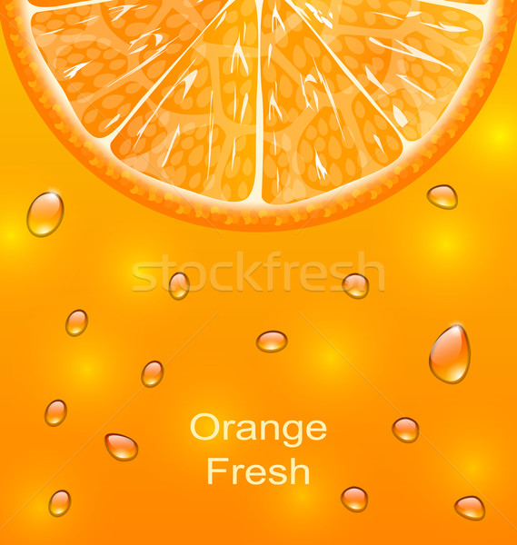 Orange slice druppels illustratie voedsel natuur vruchten Stockfoto © smeagorl