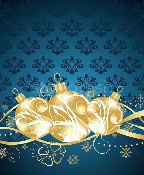 Bella Natale illustrazione abstract vetro sfondo Foto d'archivio © smeagorl