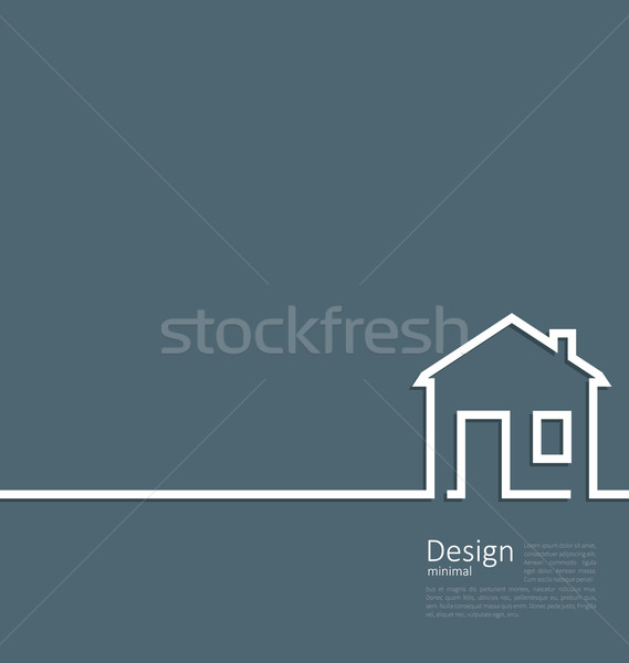 Web template house logo in minimal style Stock photo © smeagorl
