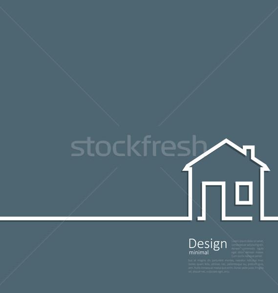 Internetowych szablon domu logo minimalny stylu Zdjęcia stock © smeagorl