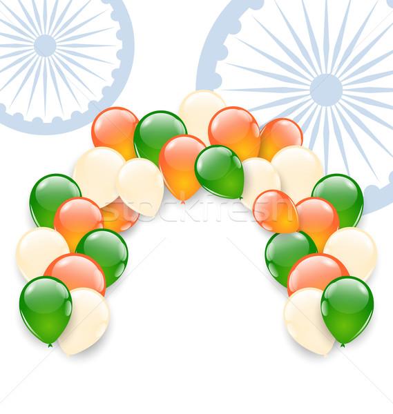 風船 トリコロール 実例 インド フラグ 休日 ストックフォト © smeagorl