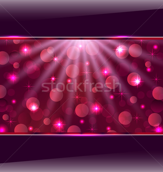 Abstract pink card with bokeh effect Stock photo © smeagorl