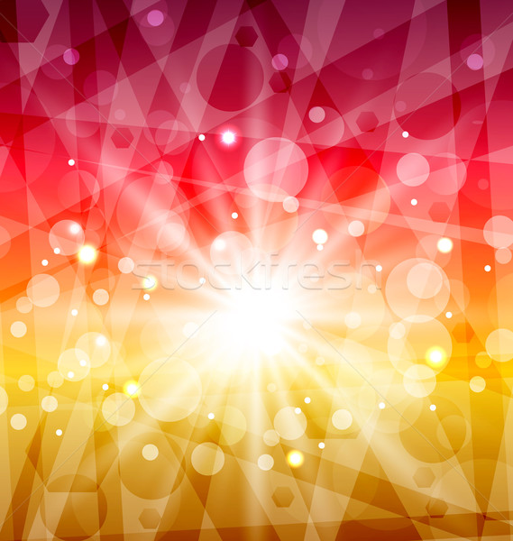Abstract background with sun rays Stock photo © smeagorl