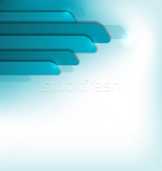 Modern blue brochure, abstract colorful design Stock photo © smeagorl