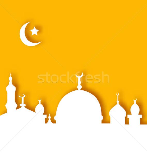 Architectuur ramadan illustratie papier gebouw Stockfoto © smeagorl