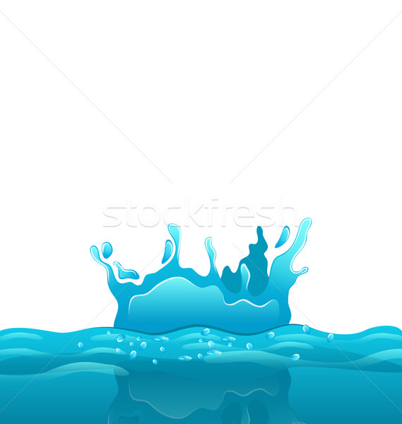 Splash and crown on rippled water surface Stock photo © smeagorl