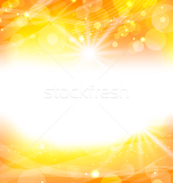 Abstract orange background with sun light rays Stock photo © smeagorl