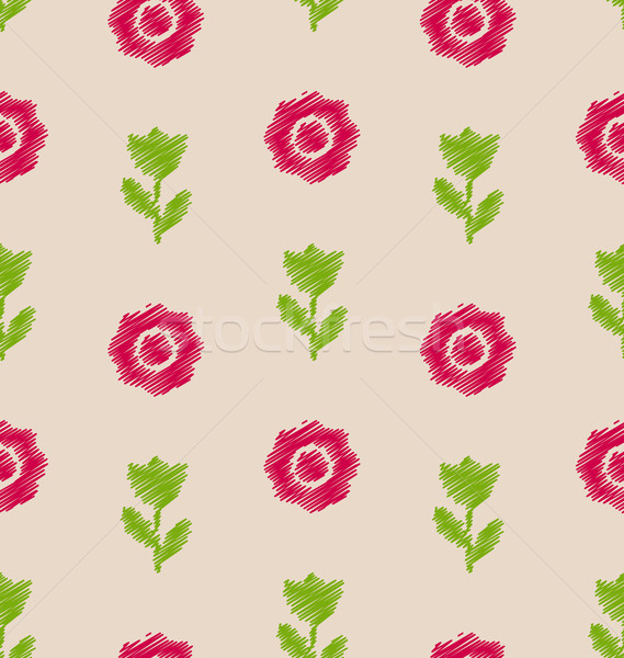 Seamless Floral Texture, Vintage Pattern for Textile Stock photo © smeagorl