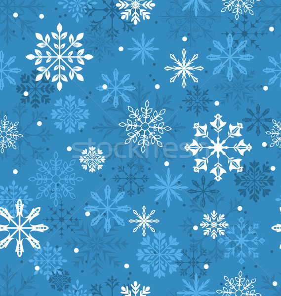 Senza soluzione di continuità texture variazione fiocchi di neve illustrazione natale Foto d'archivio © smeagorl