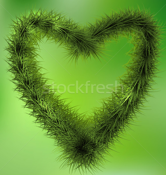 Natale cuore ghirlanda ghirlanda verde Foto d'archivio © smeagorl